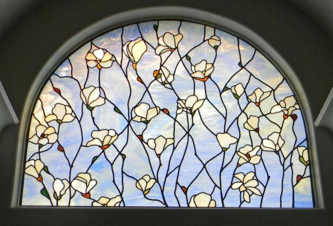 Magnolia bath window