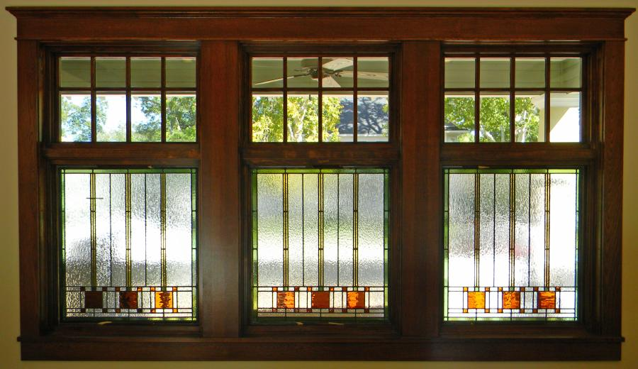 Parks front windows