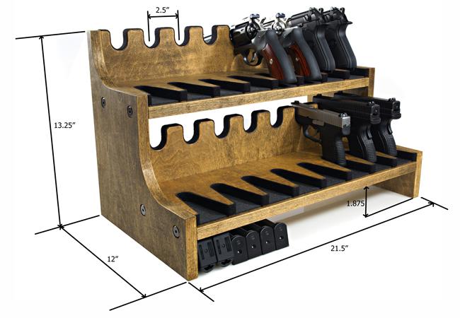 Quality Rotary Gun Racks, quality Pistol Racks - 16 Gun Pistol Rack w ...