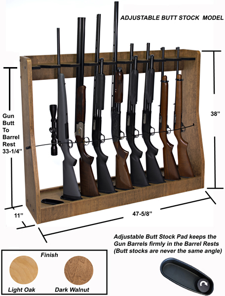 Rotary Gun Racks, quality Pistol Racks - Adjustable Vertical Gun Rack ...