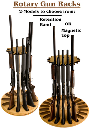 "Our Vertical Gun Racks and Rotary Gun Racks have 1.5"" Thick Bases."