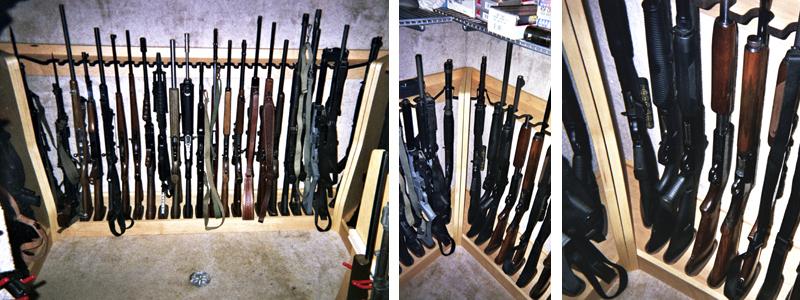Quality rotary gun racks quality pistol racks custom for Walk in gun vault room