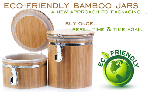 Eco-Friendly Bamboo Jars