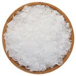 A delicate crystal flake salt