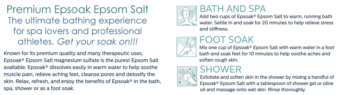Why choose Epsoak Epsom Salt Magnesium Sulfate