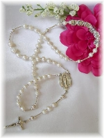 Freshwater Pearl Personalized Baby Rosary