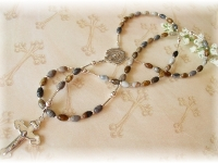 Picasso Jasper Personalized Boys Rosary