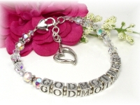 Swarovski crystal and sterling silver Godmother Bracelet