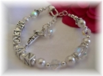 Girls Personalized Rosary Bracelet Swarovski