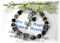 Baby BoyPersonalized Baptism Rosary Bracelet
