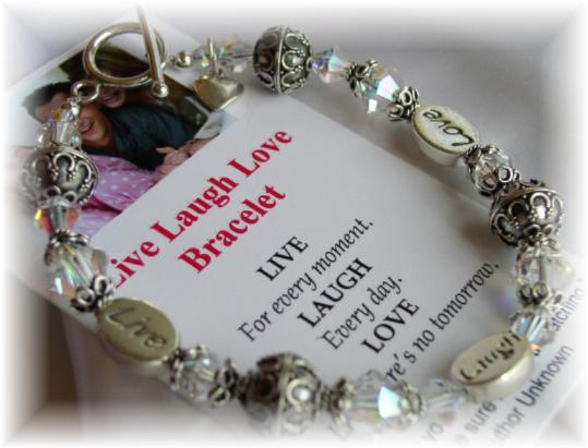 love messages. Live Laugh Love Message Bracelet