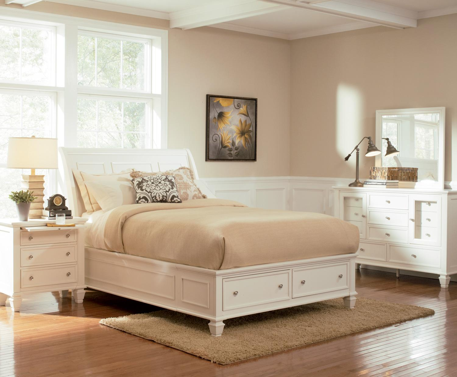 Sandy Beach Bedroom - Affordable Queen Size Beds - Discount Bedroom Furniture - Queen Platform Bedroom Sets - LaPorta Furniture Company - Online Discount Furniture Store