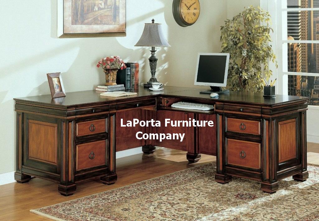 Dark Two Tone L Shaped fice Desk