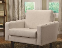 Fabric Accent Chairs - Beige Accent Chair - White Accent Chairs - Living Room Chair - Office Chair - Online Furniture Store - Discount Online Furniture