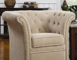 High Back Accent Chairs - Beige Accent Chair - Living Room Accent Chairs - Discount Online Furniture